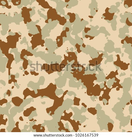 Seamless Desert Brown Fashion Military Camo Pattern Vector
