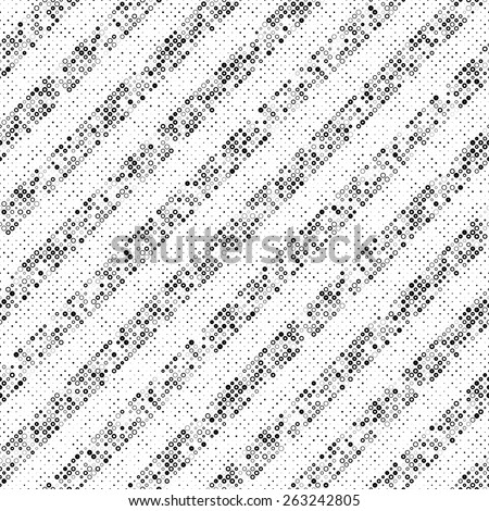 Seamless Diagonal Stripe Pattern. Vector Black and White Background - stock vector