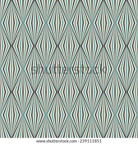 seamless diamond pattern in art deco style. each color in separate layer - easy to change. - stock vector