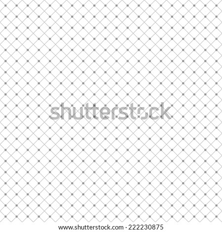 Seamless diamond pattern with dots - stock vector