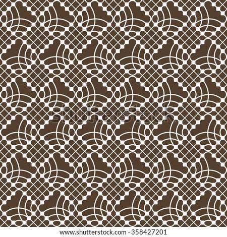 Seamless diamond shaped geometric vector pattern.  - stock vector