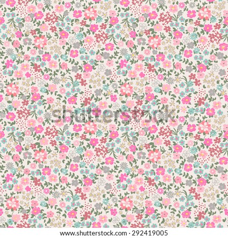 Seamless Ditsy Floral Pattern in vector - stock vector