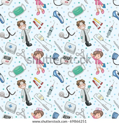 seamless doctor pattern - stock vector