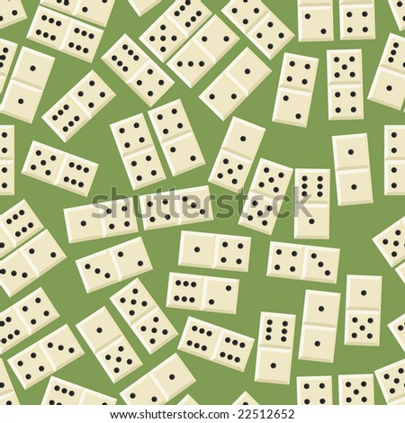 Seamless domino game pattern