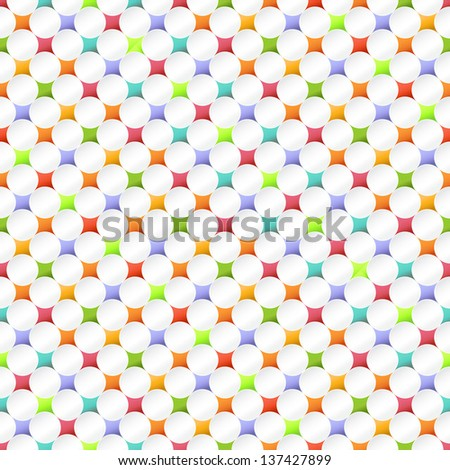 Seamless dot pattern - stock vector