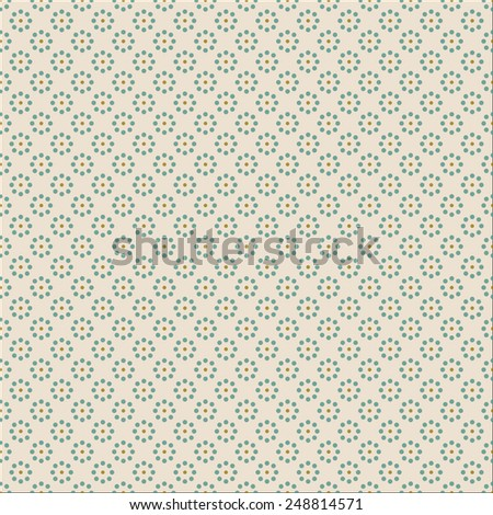 seamless dot pattern. each color in separate layer - easy to change. - stock vector