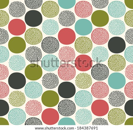 seamless dots circles pattern - stock vector