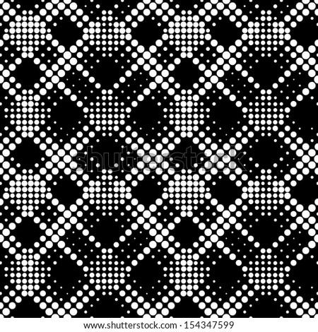 Seamless Dots Ornament - stock vector