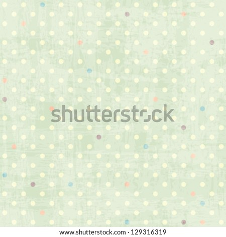 seamless dots pattern - stock vector