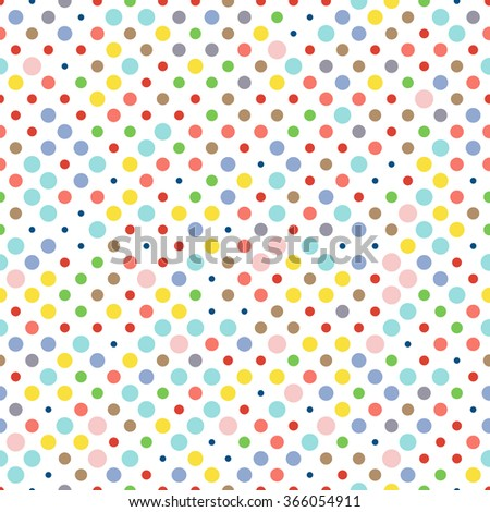Colorful Dotted Seamless Pattern Stock Vector 132578246
