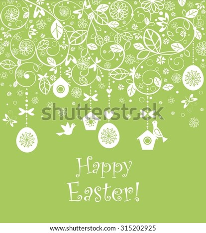 Seamless easter background - stock vector