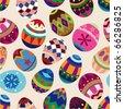 seamless Easter Egg pattern - stock vector
