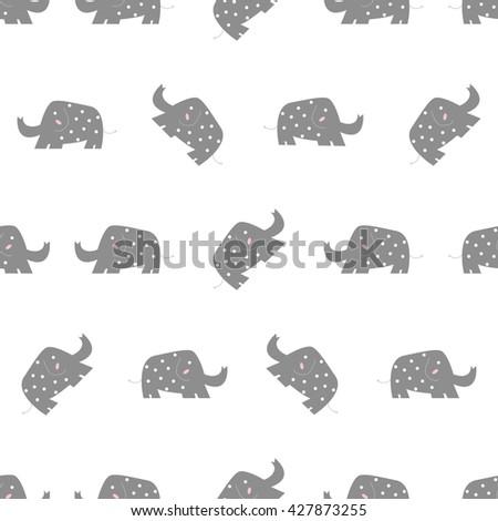 Seamless Elephant Pattern. / Cute Pattern. / Animal Pattern - stock vector