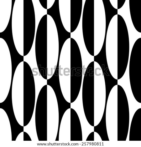 Seamless Ellipse Pattern. Vector Regular Texture - stock vector