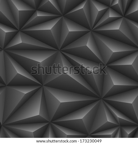 Seamless embossed texture of black color. EPS-8. - stock vector