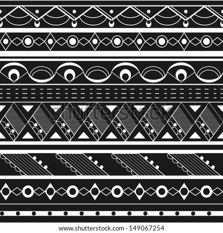 seamless ethnic background black white tribal stock vector