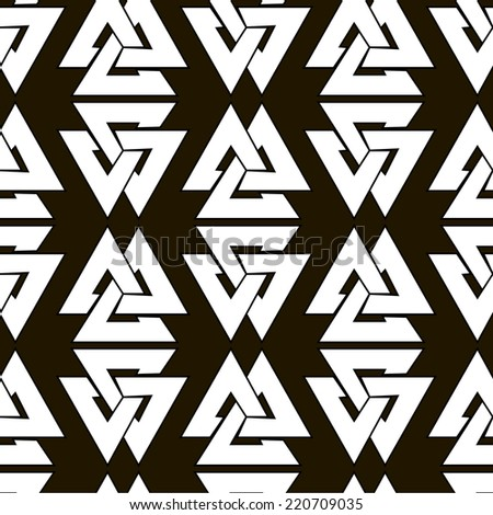 seamless ethnic black and white ornament - stock vector