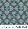 seamless ethnic garnet pattern - stock vector