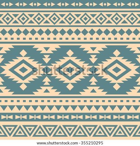 seamless ethnic pattern design - stock vector