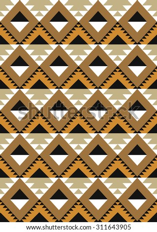 seamless ethnic pattern design. vector illustration
