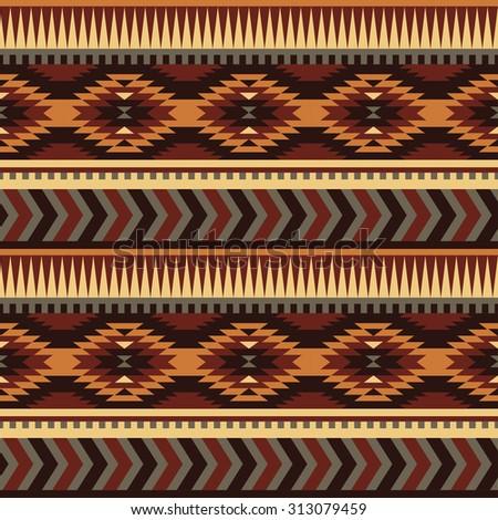 seamless ethnic pattern design. vector illustration - stock vector