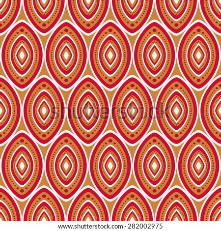 Seamless ethnic pattern. Vector background. - stock vector