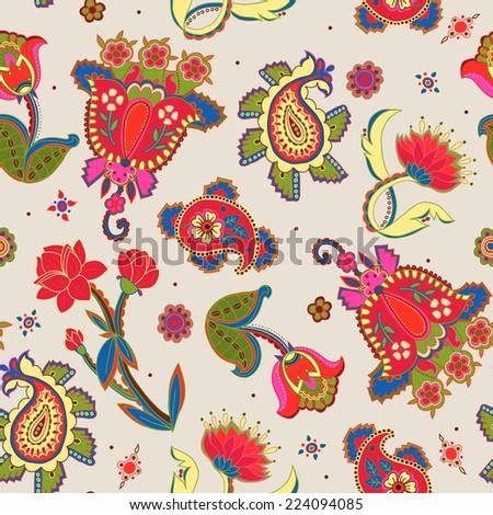 Seamless ethnic pattern. Vector illustration. - stock vector