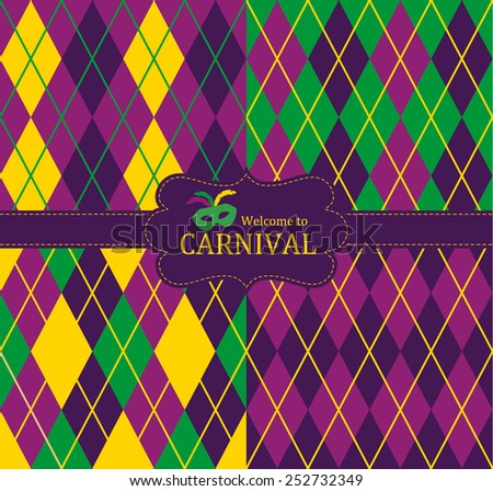 Seamless fabric pattern. Carnival background. - stock vector