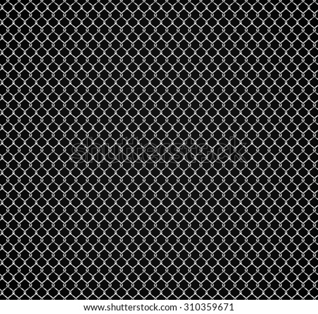 Seamless fence grid pattern. - stock vector