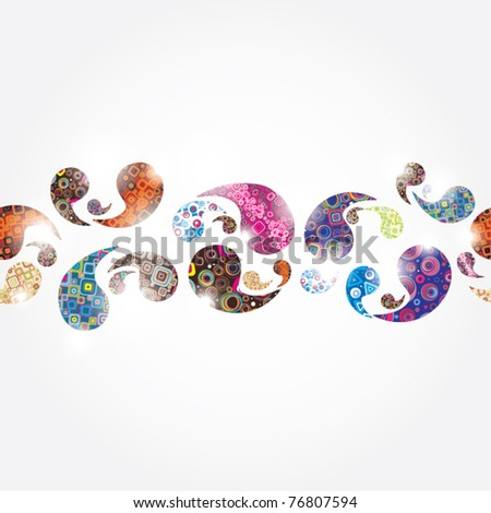 Seamless festive background - stock vector