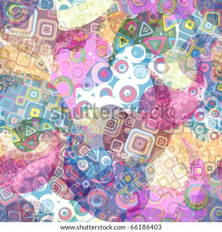 Seamless festive wallpaper - stock vector