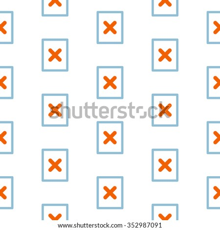 Seamless file not found vector pattern - stock vector
