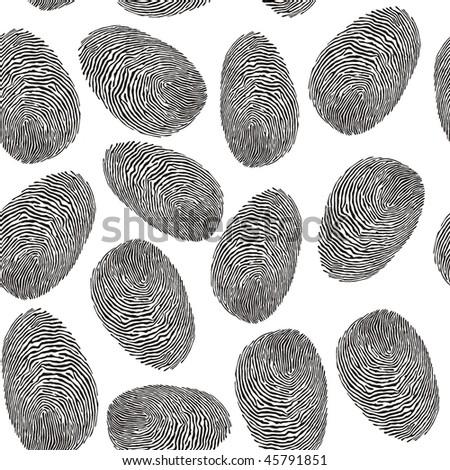 seamless finger print pattern - stock vector