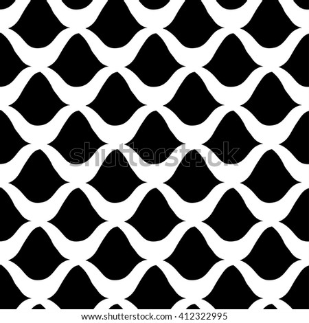 Seamless  fish pattern, fish scale background - vector illustration - stock vector
