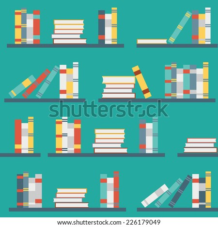 Seamless flat illustration for your design - stock vector