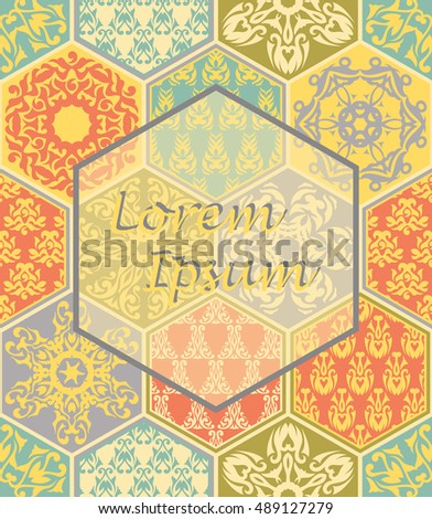 Seamless floral abstract pattern. Can be used for wallpaper, textile, fabric design. Pastel patchwork design