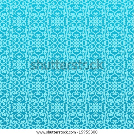 seamless floral background (blue)