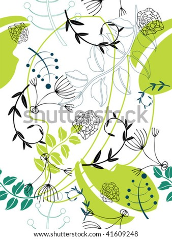 Seamless floral background. Easy to edit vector image. - stock vector