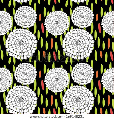 Seamless floral background, EPS 8 Vector background - stock vector