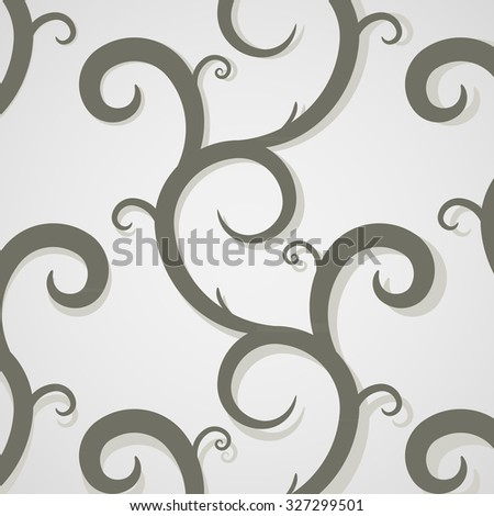 Seamless Floral background. EPS 10 vector illustration. File contains seamless pattern. Endless floral pattern. - stock vector