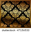 Seamless floral background gold. Vector illustration - stock vector