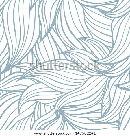 Seamless floral background pattern. Nature theme,leaves, hand - drawn abstract elements. Template for textile,paper, greeting card, postcard design.  - stock vector
