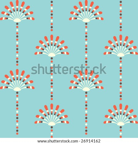 Seamless floral background pattern, vector - stock vector