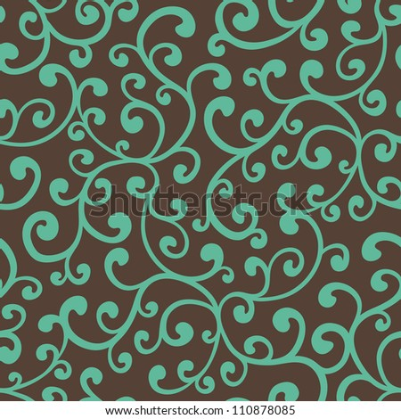 Seamless floral background pattern, vector illustration - stock vector