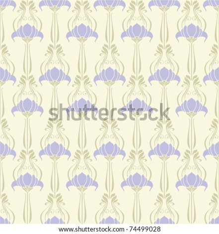 Seamless floral background. Repeat many times. - stock vector