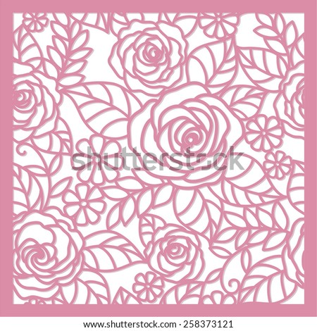 seamless  floral   background with roses - stock vector
