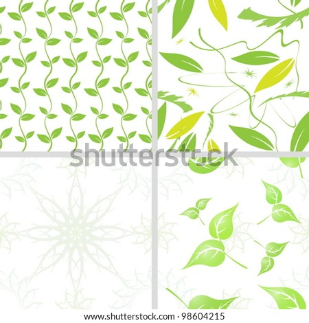 Seamless floral backgrounds - stock vector
