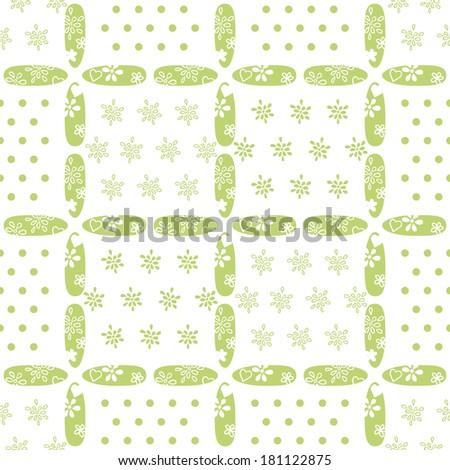 seamless floral check - stock vector