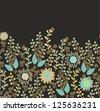 seamless floral decor - stock vector
