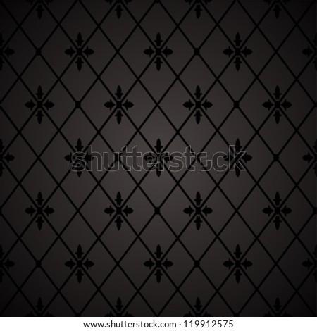 Seamless floral geometric pattern. vector illustration - stock vector